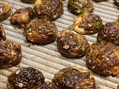 oven roasted Brussels Sprouts web page banner