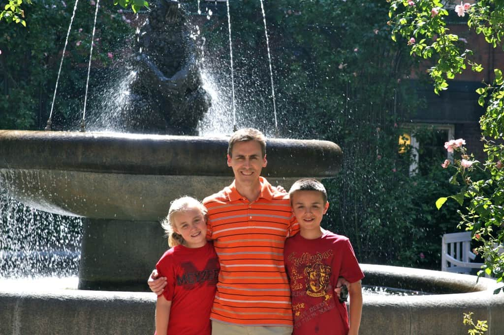 Greg Fleischaker and his kids