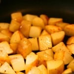 pan roasting yukon gold potatoes with a little olive oil and butter