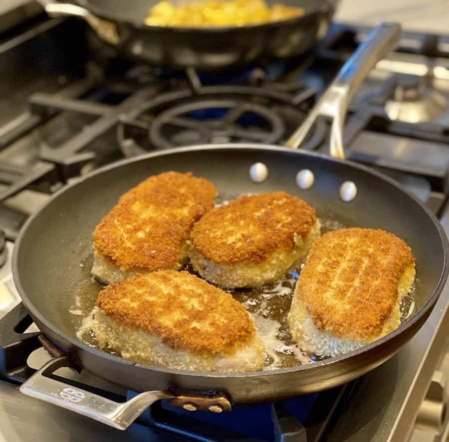 panko crusted pork patties