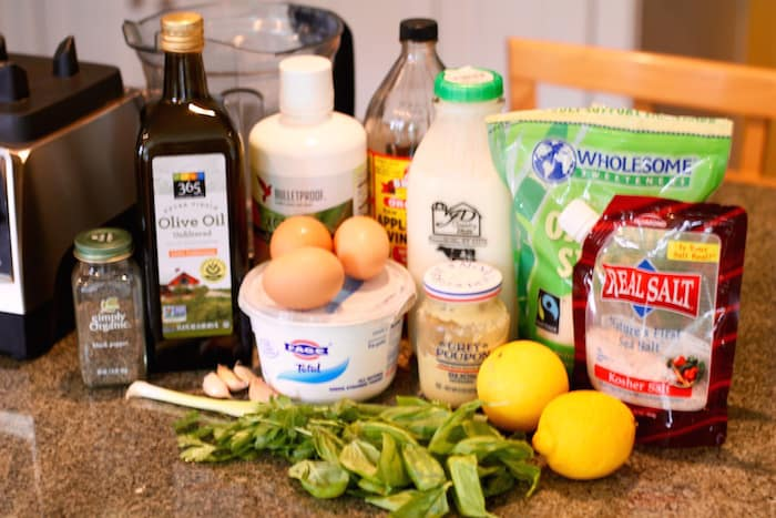 ingredients for mct oil ranch dressing