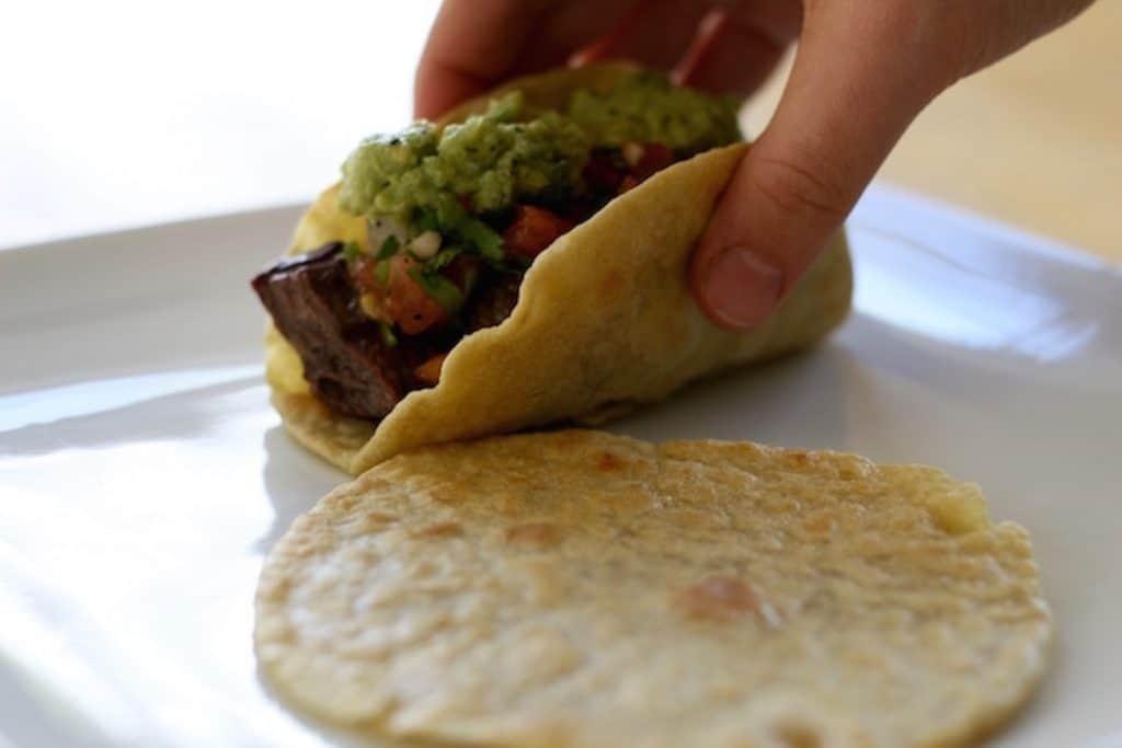 homemade tortillas made with Einkorn Flour