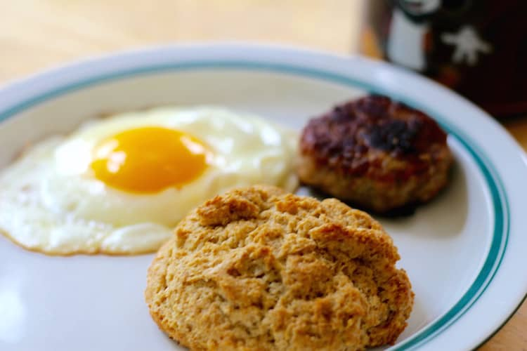 Morning Egg With Einkorn Flour Biscuit
