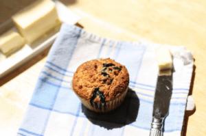 Einkorn Flour Blueberry Muffins