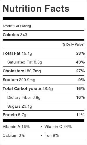 fresh peach galette nutrition palen