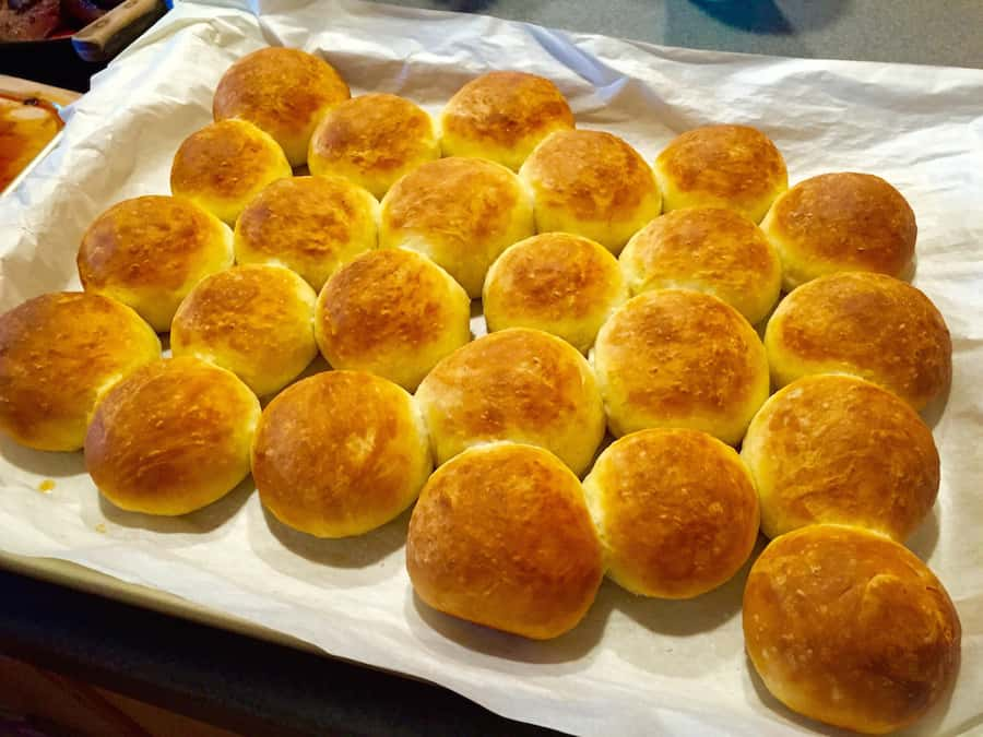 tray full of Dinner Rolls picture