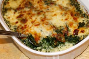 Oven Baked Creamed Spinach