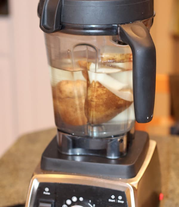 using Vitamix to shred potatoes