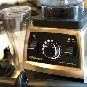 my Vitamix mixer getting ready to make salad dressing