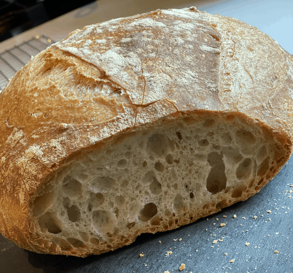 overnight bread with Einkorn flour