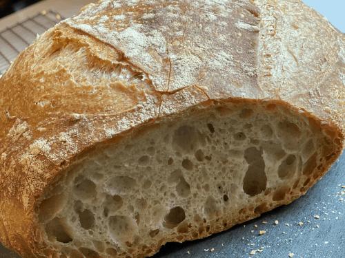 overnight bread with Einkorn flour