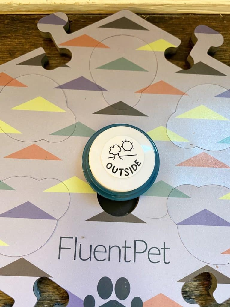 recordable speech button for dogs